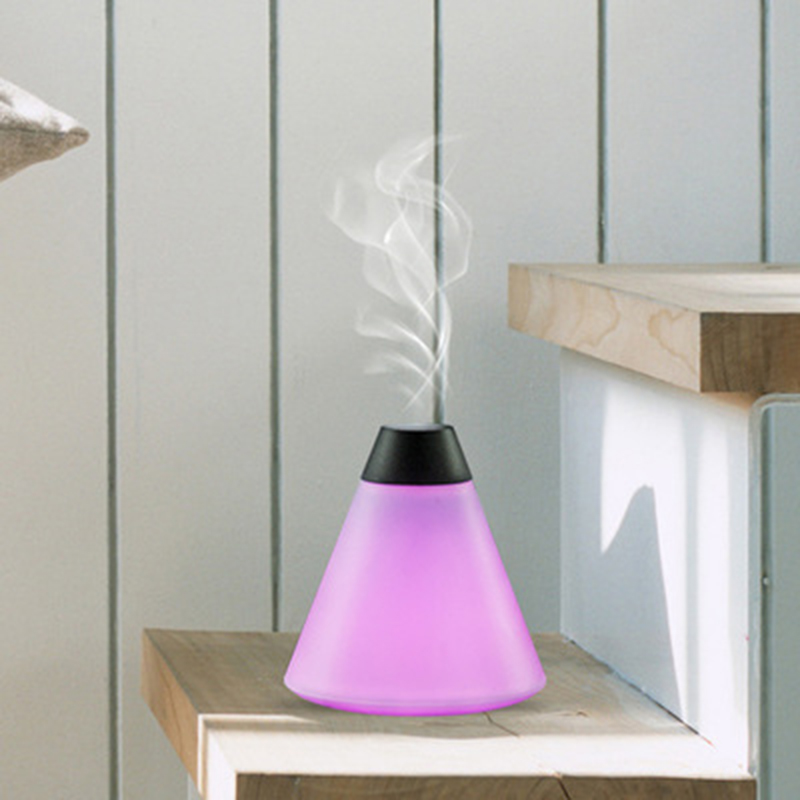 2016 hot sales! Night light air humidifier desktop USB essential oil color super volcano shape.(China (Mainland))