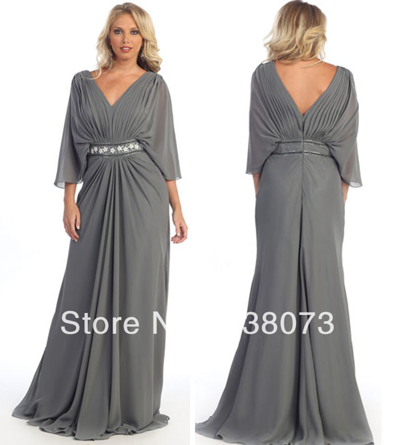 Charcoal formal occasion mother of bride groom dress for Charcoal dresses for weddings