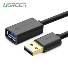 Ugreen USB Удлинитель USB 3.0 Кабель Мужчины к Женщине 0.5 m 1 m 1.5 m 2 m Super Speed USB Синхронизации Данных Зарядный Кабель для ноутбук(China (Mainland))