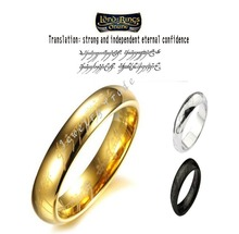 Min.order is $10 (mix order)ZJ02 18k Rings titanium steel rings, fashion rings of young men and women.