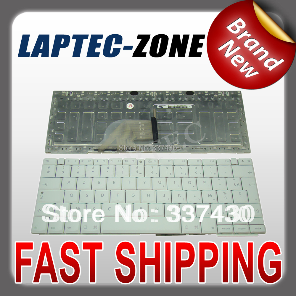 "Brand New LAPTOP KEYBOARD FITS 12"" iBook G4 Series French Keyboard FR Clavier White(China (Mainland))"