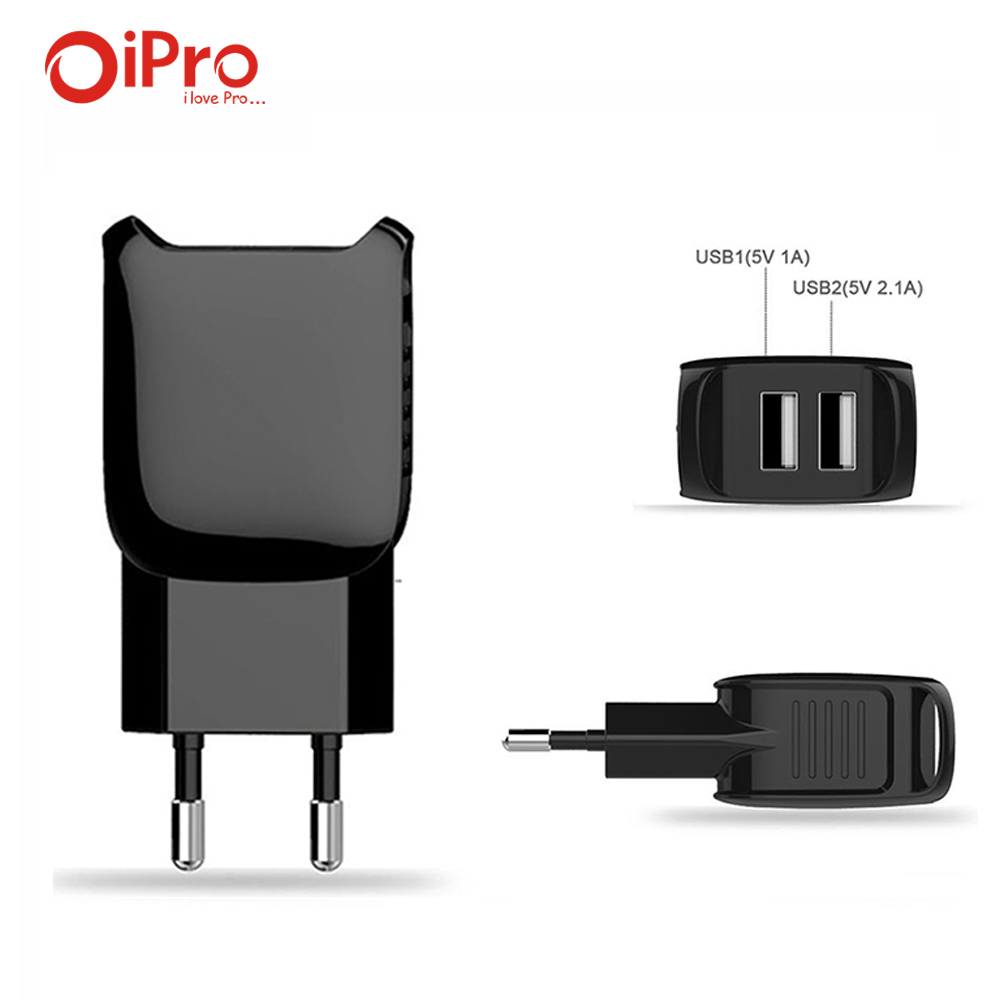 EU Plug 5V 2.1A Dual USB Charger Wall AC Adapter Travel Portable Mobile Phone Charger for iPhone Samsung Xiaomi Huawei(China (Mainland))