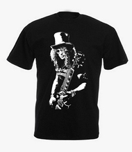 Slash Rock Band T Shirt Gun N Roses Mens Short Sleeve Design Shirt High Quality Print New Summer Style Cotton Shirts Plus Euro