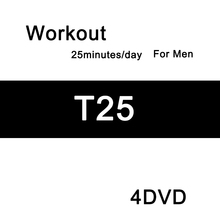 T25 4disc workout DVD free shipping(China (Mainland))