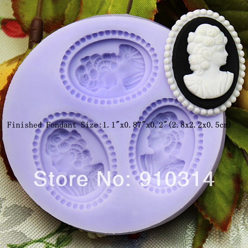Cake Decorating Gum Paste Nz : Wholesale Free shipping F190 Small girl Silicone Fondant ...
