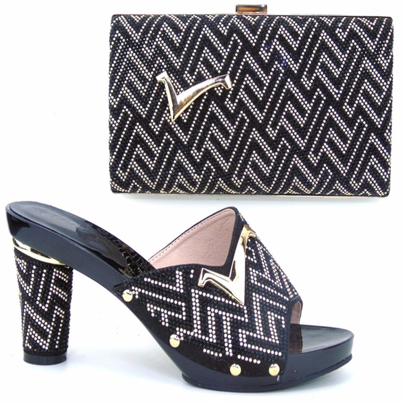 TH16-52 Free Shipping DHL  Hot Favorable Italian design shoe and matching bag set,Wholesale and  shoe and bag to match royal