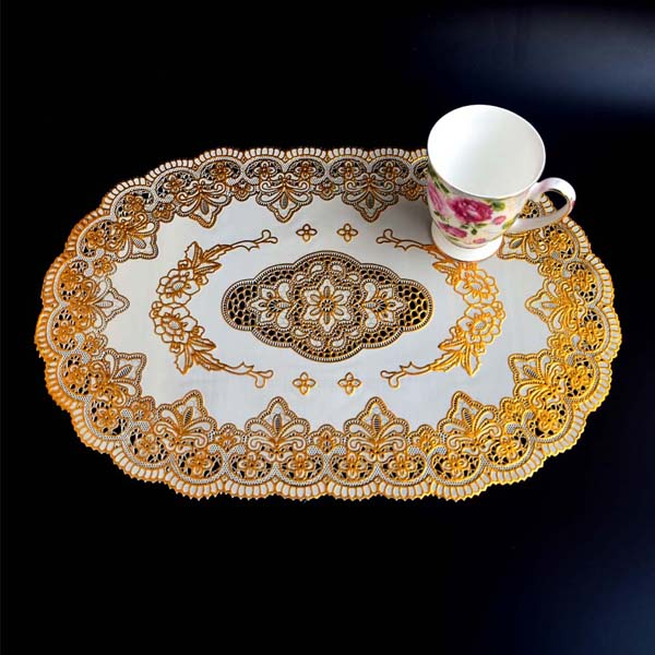Modern Style 4 Pieces/lot PVC Table Mats Waterproof Coffee Pad Dining Mat PVC Placement for Table Decoration & Accessories(China (Mainland))