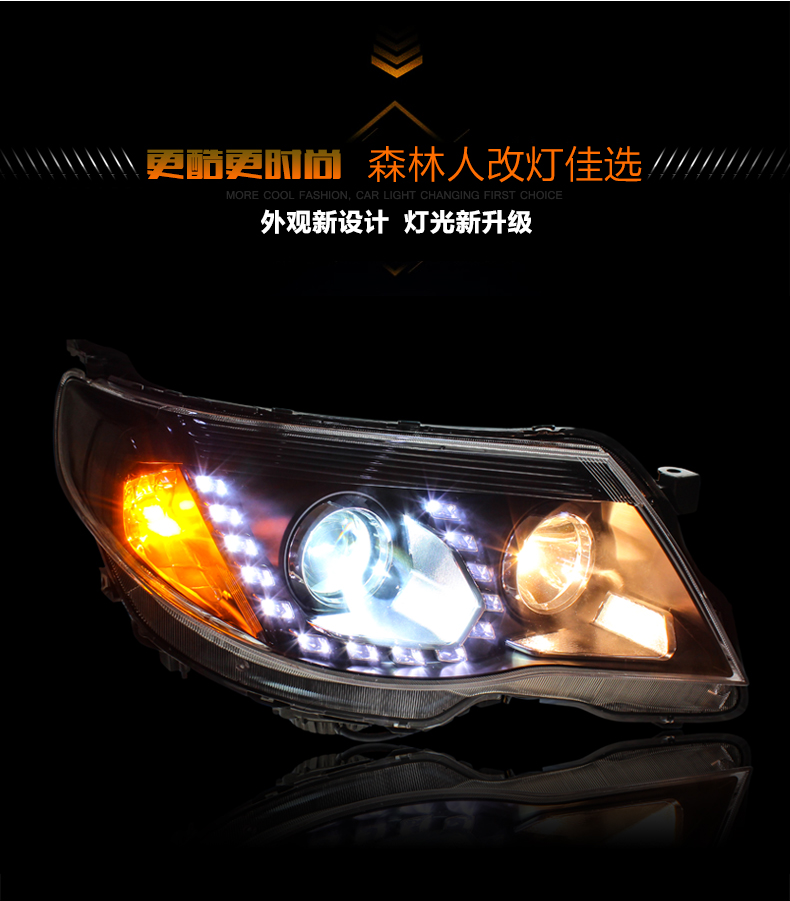 Auto Clud Car Styling for Subaru Forester LED Headlight 2008-2012 Bi Xenon Headlights drl Lens Double Beam H7 HID Car Parts
