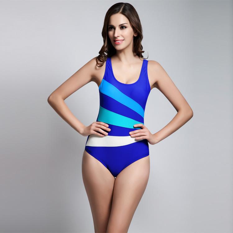 Women High Quality Sport Monokini Swimsuits Backless Woman Swimsuit Swimwear Sports Training Body Suit 2016 One Piece Swimsuit(China (Mainland))