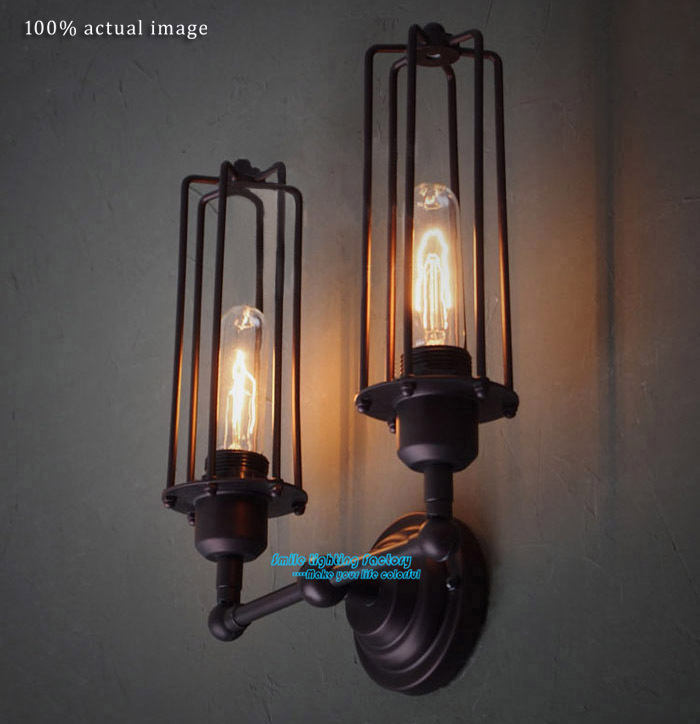 Creative Loft Classical Nostalgic Double Wall Lights Vintage Lamp European Industrial Style Warehouse Sconce - Smile Lighting Factory's store