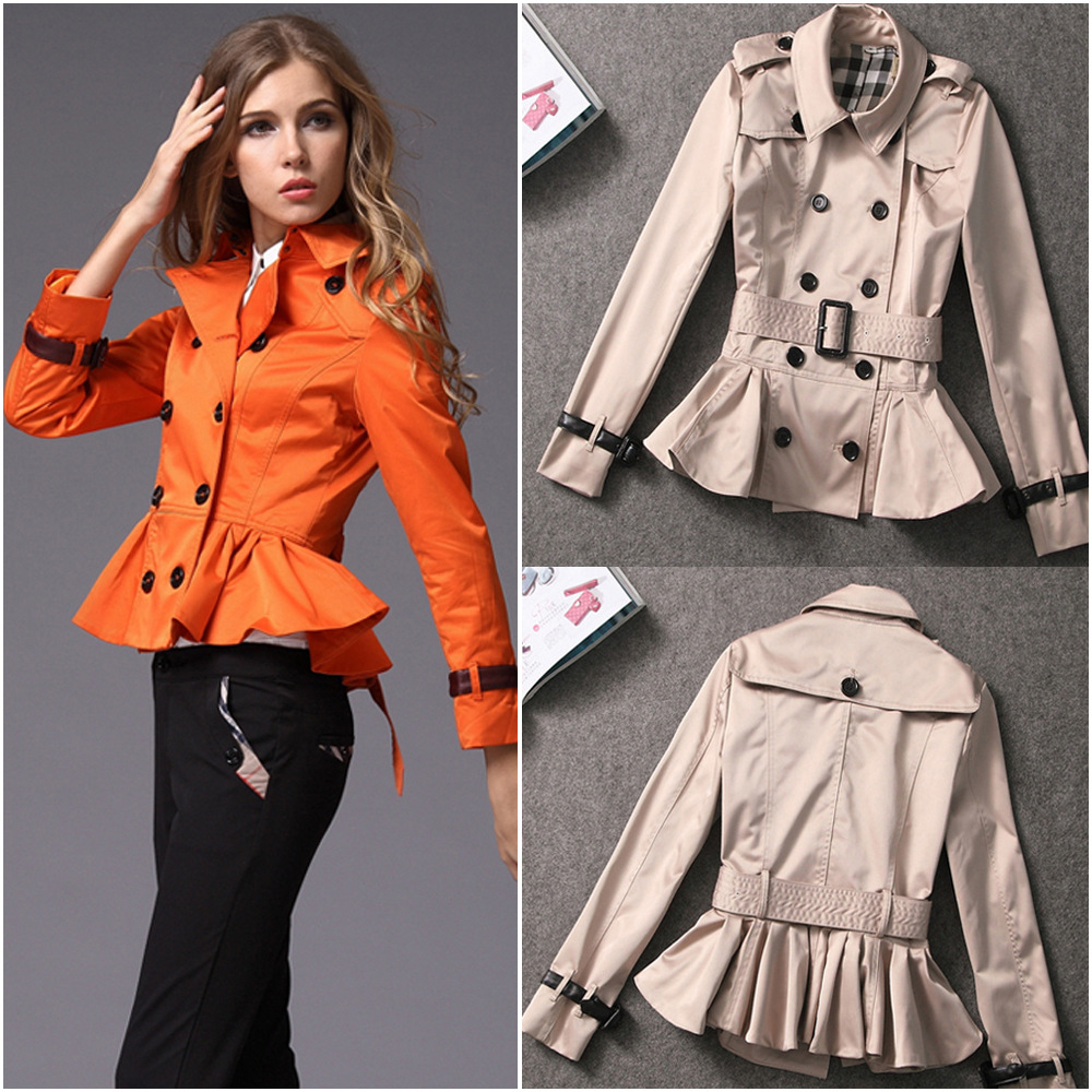 The new B home station double breasted coat woman flounced major suit high-end boutique clothing wholesale(China (Mainland))