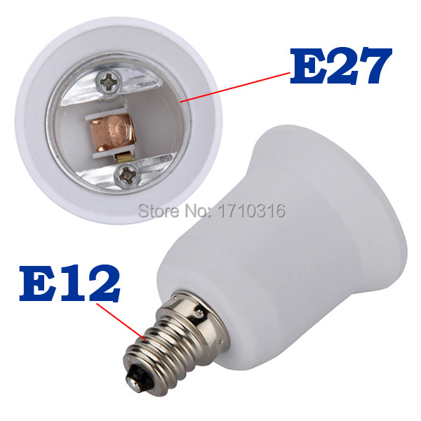 Lowest Price E12 to E27 Candelabra Base Bulb Lamp Light LED Screw Socket Adapter Converter(China (Mainland))