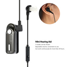 Rechargeable Ear Hearing Aid Mini Volume Adjustable Sound Amplifier Ear Hearing Enhance Assistance Helper with Earplug Audiphone(China (Mainland))