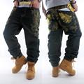 Men hip hop jeans skateboard men baggy jeans street style denim hiphop pants loose jeans rap