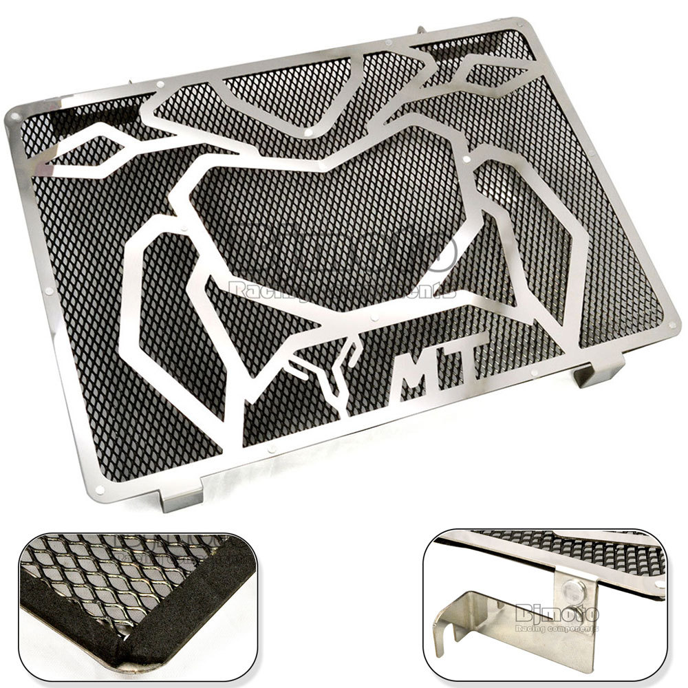 New Stainless Steel Motorcycle Engine Radiator Bezel Grille Grill Guard Cover Protector For Yamaha MT09(China (Mainland))