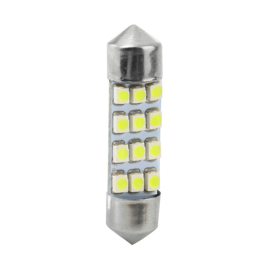 42mm White New Car Dome 12 3528-SMD LED Bulb Light Interior Festoon Lamp  !<br><br>Aliexpress