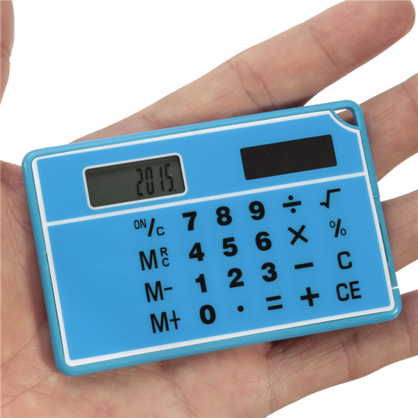 Hot Sale Blue New Arrival High Quality Mini Double Power Supply Solar Portable Calculator Calculated Accurately(China (Mainland))