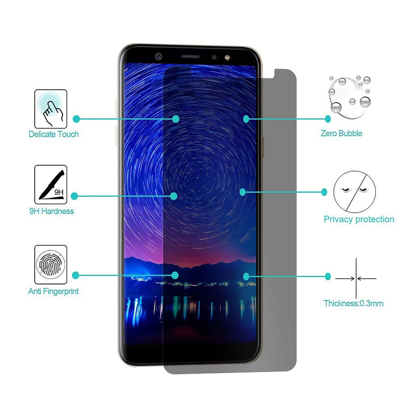High Clear Privacy Screen Protector For Samsung Galaxy A3 A5 A6 A7 A8 Plus 2018 2016 Anti Spy Pivacy Tempered Glass Anti Peeping