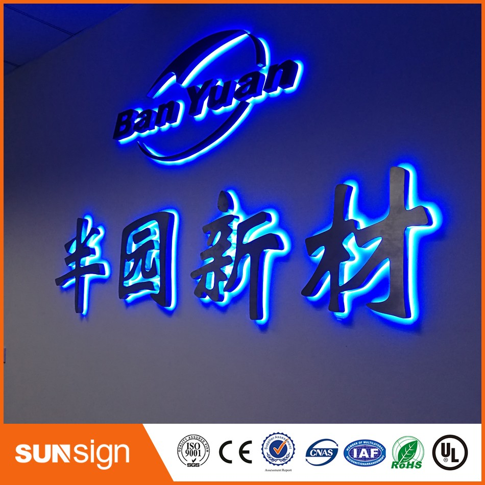 LED backlit channel letter signage with blue light(China (Mainland))