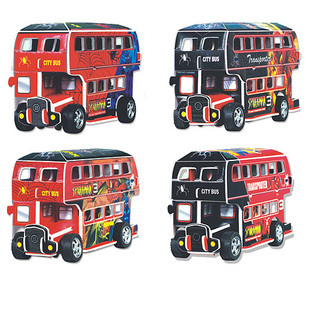 Toy 3d stereo assembling model WARRIOR car model bus