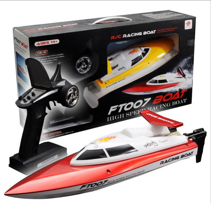 FT007 2.4G RTF RC Boat High Speed Remote Control Racing Boat/20km ft007 Best Gift bateau remote control boat rc ship(China (Mainland))