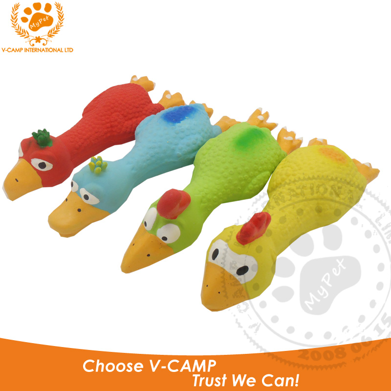 My pet Brand high quality 4pcs/set 100% latex rubber novelty eagle chicken duck funny gadgets pet squeak toys baby VP-PT1011(China (Mainland))
