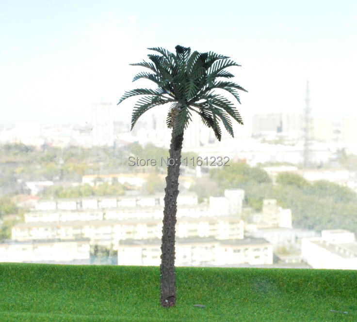 Online shopping realistic miniture palm trees 6cm coco copper leave tree construction<br><br>Aliexpress