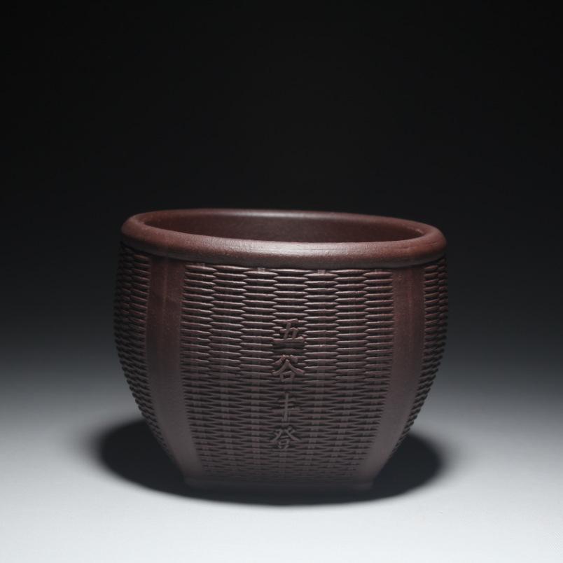 A xícara de chá por atacado fabricantes que vendem Yixing minério de argila roxa grau de Yixing copo copo de 90 mL de um pára choques de colheita de grãos(China (Mainland))