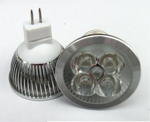 DHL Free shipping Wholesale MR16 4W LED Bulb,AC/DC12V 400LM,4*1W LED BULB,1 years warranty