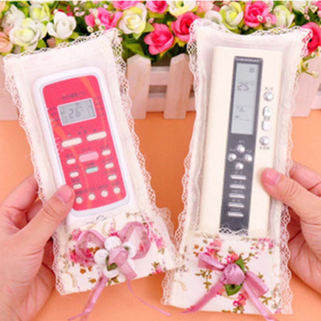 1PC New Design Dustproof TV Remote Control Case Air condition Remote Control Cover Textile Protective Bag(China (Mainland))