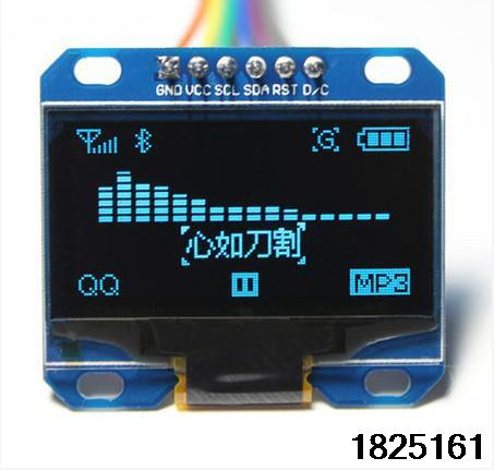 "Гаджет  1PCS blue color 128X64 1.3 inch OLED LCD LED Display Module For Arduino 1.3"" IIC Communicate 6pin None Электронные компоненты и материалы"