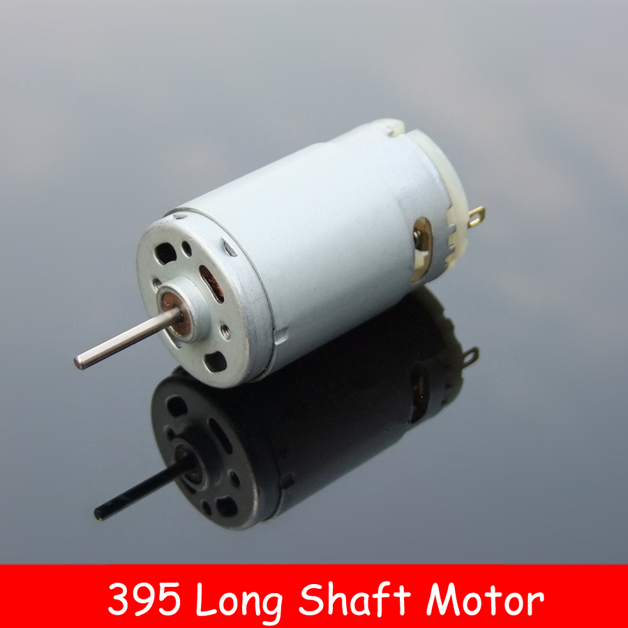 Authentic 395 Motor 6 24V Plastic Back Cover DC Micromotor with Long Shaft for Home audio