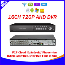 Free shipping+AHD 720P 16CH AHDM DVR 16 Channel 2 SATA HDD 3G Wifi AHD 16CH Hybrid  NVR DVR Recorder ONVIF+P2P cloud : essenet