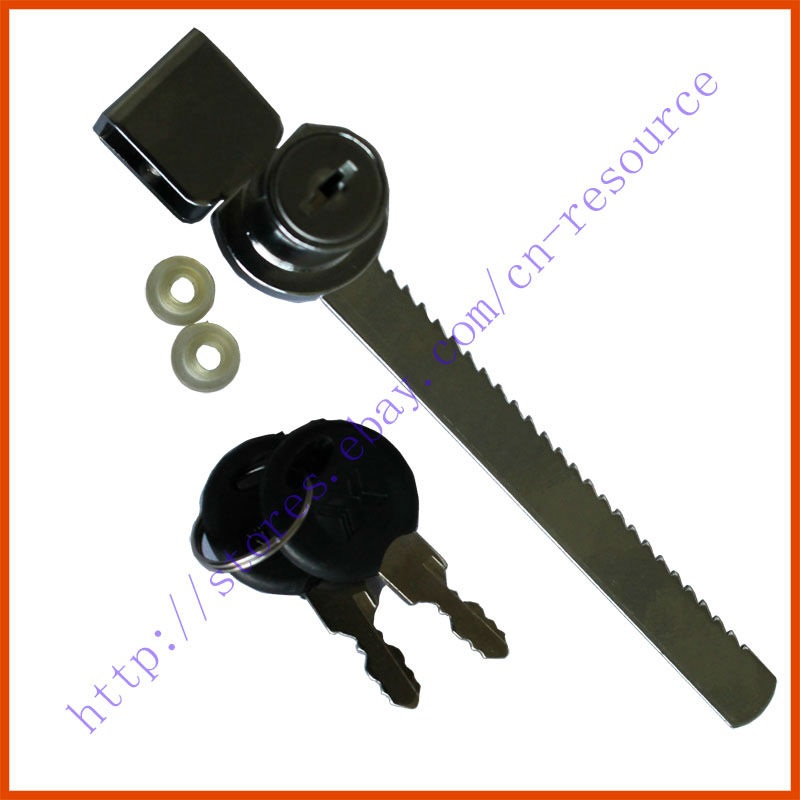 Cabinet Drawer Display Case Showcase Sliding Glass Push Door Ratchet Lock 2 Keys(China (Mainland))