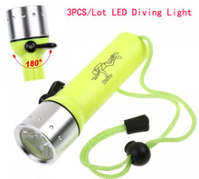 3PCS/Lot 50M Cree Q5 LED 800 Lumens Underwater Hunting Diving Flashlight Torch Waterproof Hunting Led Lamp For AA(China (Mainland))