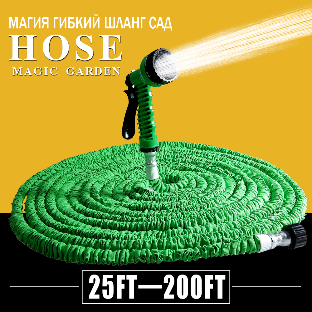 Hot Selling 25FT-200FT Garden Hose Expandable Magic Flexible Water Hose EU Hose Plastic Hoses Pipe With Spray Gun To Watering(China (Mainland))