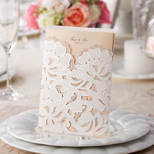 Free Shipping 50pcs Personalized Laser Cut Wedding Invitations Wishmade Convite Casamento Event & Party Supplies CW100/CW066(China (Mainland))
