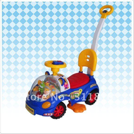 Free shipping! Big fun for children! Top sale,MOQ 1pc,4pcs/lot, guarantee 100%, child scooter with horn music and light