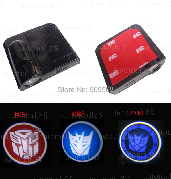 For Transformers logo Car LED shadow logo Lights For HAMANN HKS LOTUS BENZ Car Door Welcome Light Lamp car styling(China (Mainland))