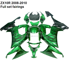 Buy Customize ZX10R 2008 Kawasaki Ninja ZX 10R 08 10 2008 2009 2010 green fairing kit fairings XX006 for $347.76 in AliExpress store