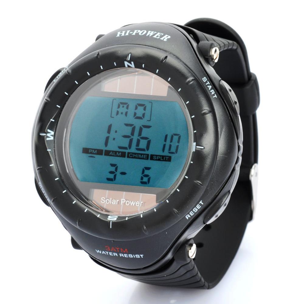 Super Watch Solar Sports Diving Swimming Wrist Watch Backlit Stopwatch Alarm Clock Sport 120784(China (Mainland))
