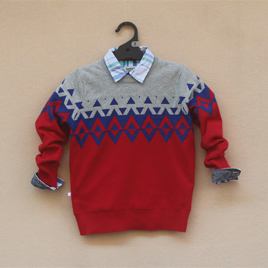 Free Shipping 4pcs/lot Autumn &amp; Winter Style 7-14yrs Boys Knitted Sweater, Wave Jacquard<br><br>Aliexpress