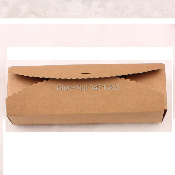 (80pcs Kraft) Macarons Kraft paper box Biscuit paper wrapping package Cake packging carton box Food packaging Free Shipping(China (Mainland))
