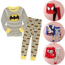 Hot Selling Baby Kids Clothes Nightwear Long Sleeve Cartoon Pajama Set Child Home Wear Casual Sleepwear Clothes Set