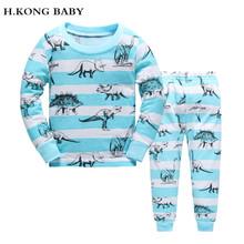 Buy H.kong baby New Low price Kids Girls Pajamas Sets boys Pyjamas children paw cartoon Sleepwear Home Clothing 100% Cotton nightwea for $6.15 in AliExpress store