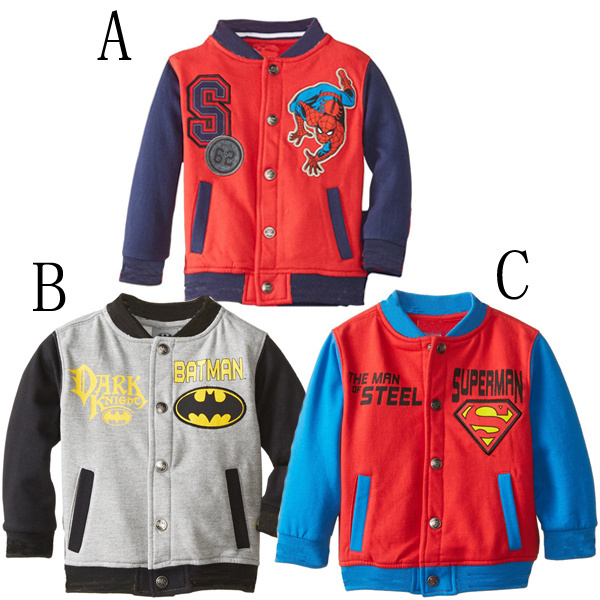 Fall and Winter Children clothing thick kids coat fashion cartoon Superman Batman baby girls boys outwear casual kids clothes<br><br>Aliexpress