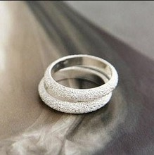 ra001 Fashion 2015 Women's Rings White Simple Atmosphere Frosted Rings Free Shipping Ring In Jewelry