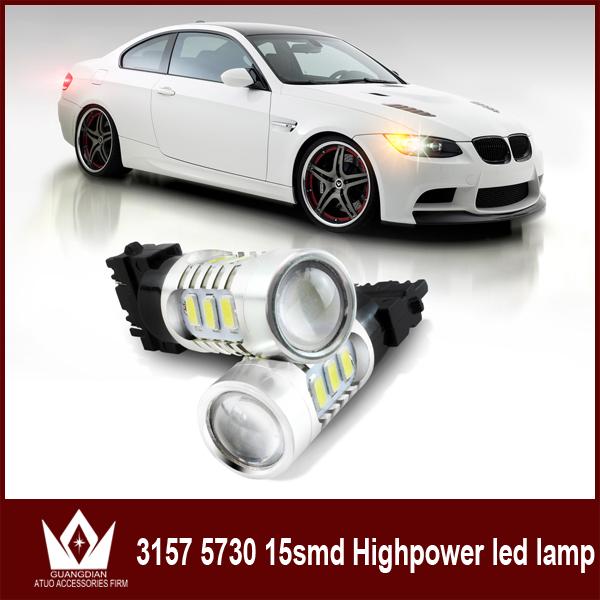 2 X 20W 3157 Switchback LED Turn Signal Lights brake light Bulbs 3157 LED Dual Color White Amber free shipping