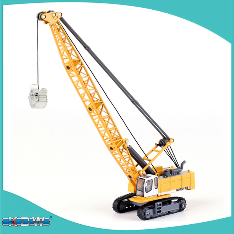 KAIDIWEI alloy engineering vehicle model 1:87 tower cable digging truck crane toy factory simulation children(China (Mainland))