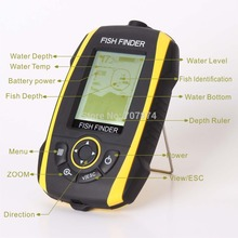 16 Levels Grayscale Portable Fish Finder Waterproof IP67 Sonar Echo Depth Finder(China (Mainland))